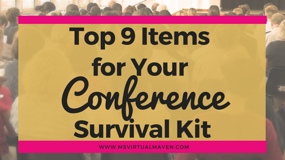Even though conferences are exciting and information packed, you need a conference survival kit to get you successfully through the many hours of socializing and networking. Here are the 9 items you need to survive your next conference.