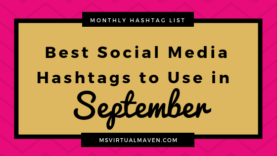 September is the time of the year for the fall season and sharing pics of pumpkin spice lattes. Here are the best social media hashtags for September!